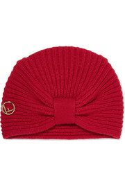 Ribbed wool turban