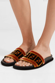 Fendi Printed velvet slides