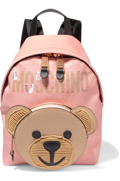 Moschino - Textured-leather Backpack - Pink