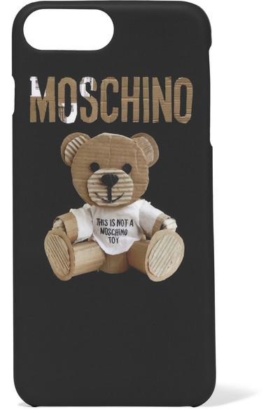 Moschino - Printed Acrylic Iphone 7 Plus Case - Black