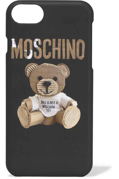 Moschino - Printed Silicone Iphone 7 Case - Black