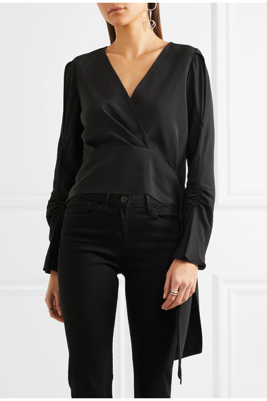 3.1 Phillip Lim. Wrap-effect silk crepe de chine blouse