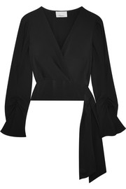 3.1 Phillip Lim Wrap-effect silk crepe de chine blouse