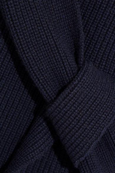 3.1 Phillip Lim Drapierter Pullover aus einer gerippten Woll-Yakmischung