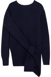 3.1 Phillip Lim Draped ribbed wool and yak-blend sweater