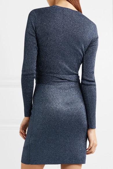3.1 Phillip Lim Kleid aus Metallic-Rippstrick mit Bindedetail