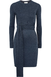 3.1 Phillip Lim Twisted metallic ribbed-knit dress