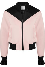 3.1 Phillip Lim Silk-trimmed satin-crepe bomber jacket