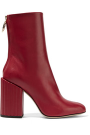 Petar Petrov Lipstick leather ankle boots
