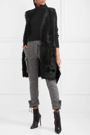 Karl Donoghue Reversible shearling and leather gilet