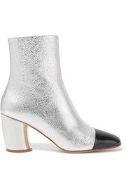 Proenza Schouler Metallic textured-leather ankle boots
