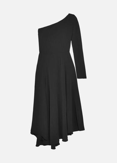 Hestia One-shoulder Crepe Midi Dress - Black Vanessa Bruno QnXH2ll1u