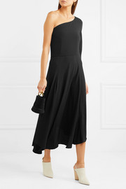 Vanessa Bruno Hestia one-shoulder crepe midi dress