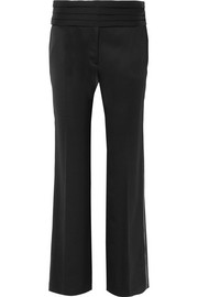 Hasen wool-twill straight-leg pants
