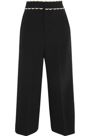 REDValentino Cropped crepe wide-leg pants