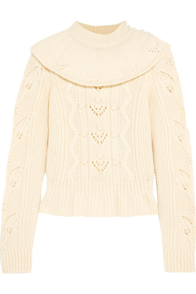 REDValentino - Ruffled Wool Sweater - Ecru