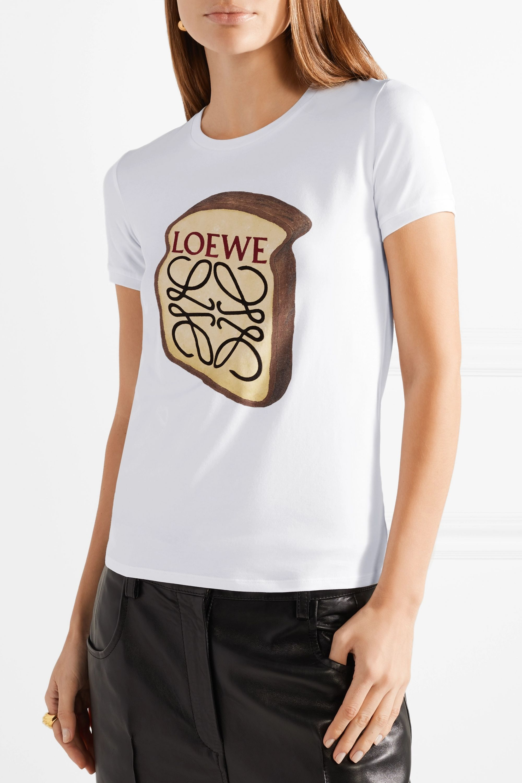 Loewe Toast printed stretch-cotton T-shirt