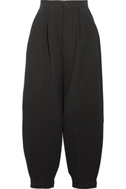 Pleated crepe pants