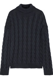 Mansur Gavriel Cable-knit wool turtleneck sweater