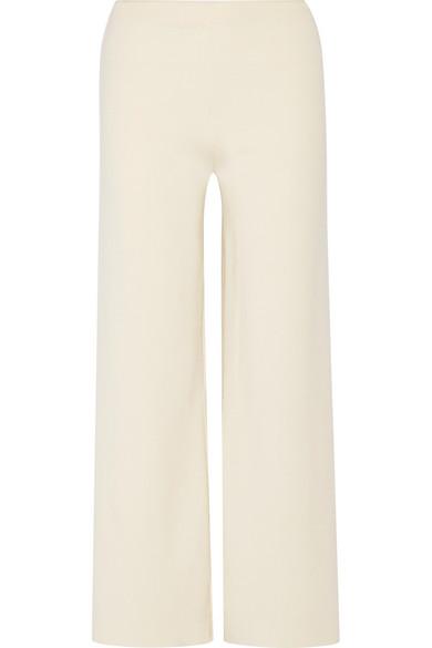 Mansur Gavriel Milano Pants With Wide Leg From Merino Wool