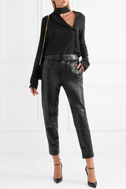 Saint Laurent Leather slim-leg pants