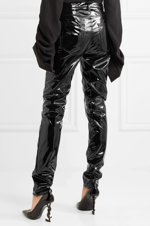SAINT LAURENT Vinyl straight-leg pants