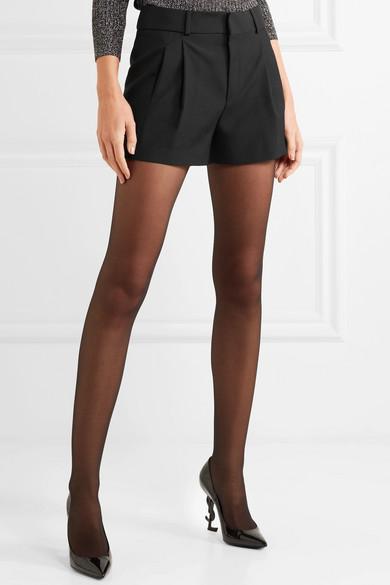 Saint Laurent Shorts aus Woll-Gabardine