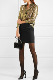 Saint Laurent Wool-gabardine mini skirt