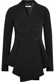 Givenchy Double-breasted grain de poudre wool peplum blazer