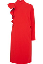 Givenchy Asymmetric ruffled stretch-cady tunic