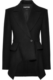Wool and cashmere-blend peplum coat