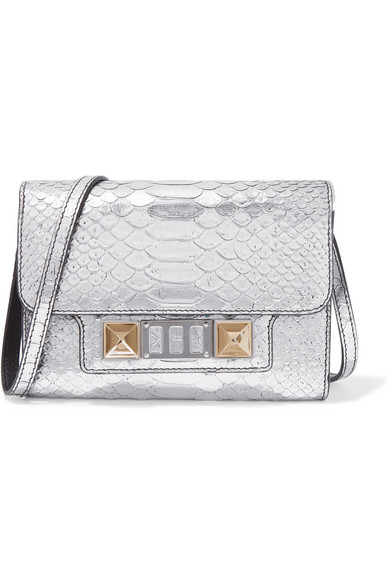 PS11 WALLET METALLIC LEATHER CLUTCH