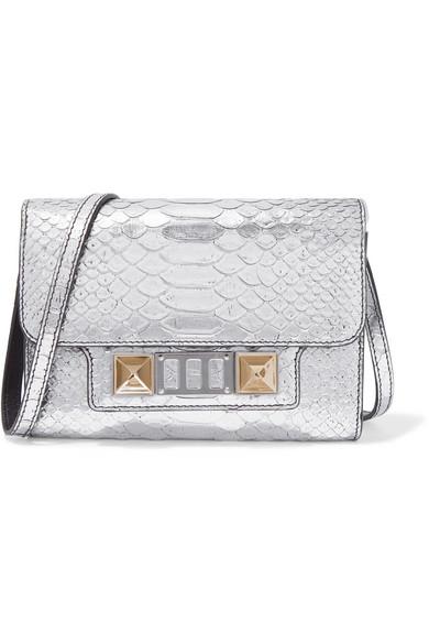 807368e19259 Proenza Schouler Ps11 Wallet Metallic Leather Clutch In Silver ...