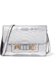 PS11 Wallet metallic snake-effect leather shoulder bag