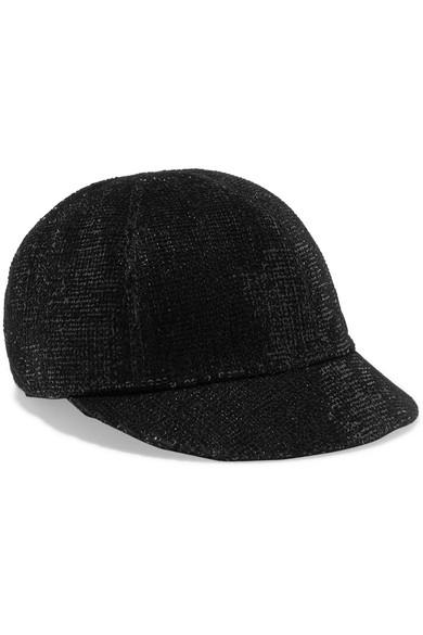 Warren sequined velvet cap