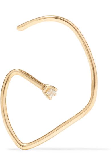 G 18-karat gold diamond earring