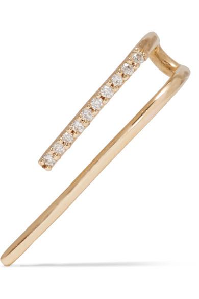 H 18-karat gold diamond earring
