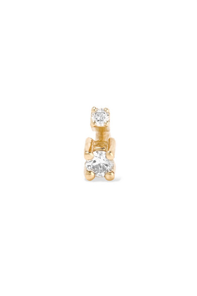 SANSOEURS BIG SPARK 18-KARAT GOLD DIAMOND EARRING