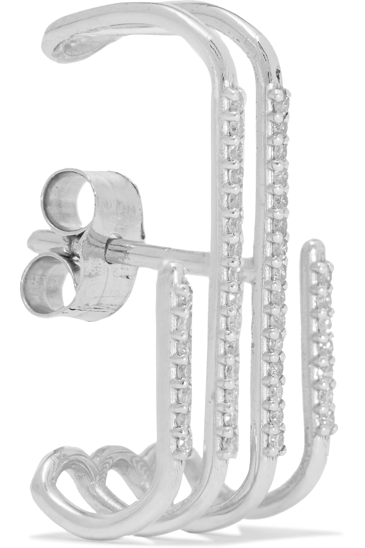 Sansoeurs 18-karat white gold diamond earring