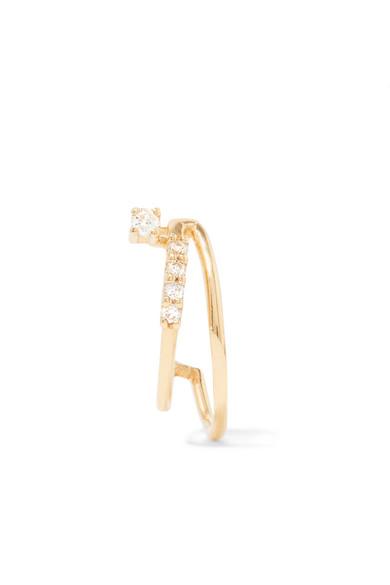 SANSOEURS 18-KARAT GOLD DIAMOND EARRING