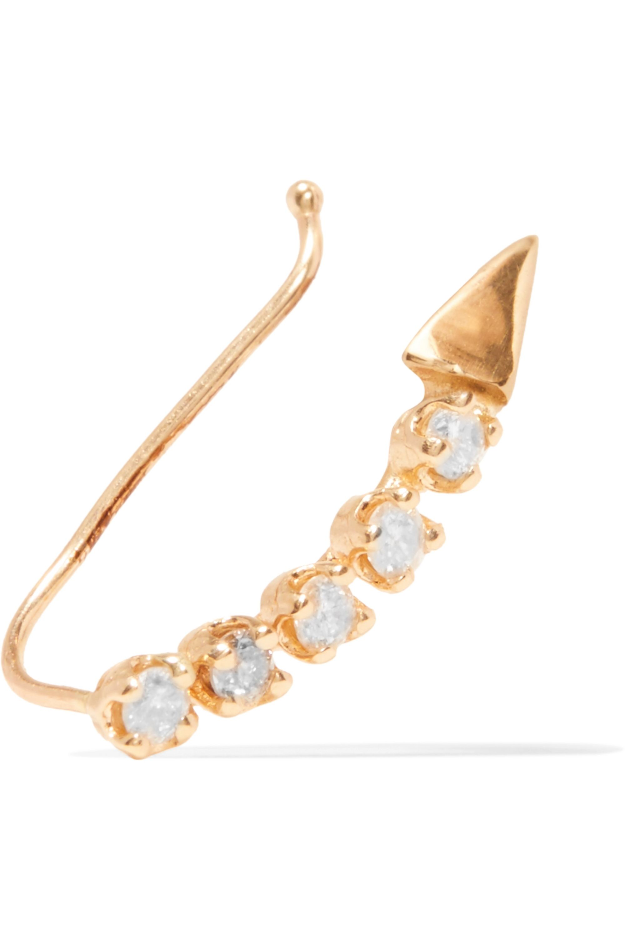 Loren Stewart Gold diamond earring