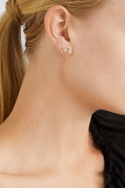 Loren Stewart 14-karat gold, sapphire and topaz earring