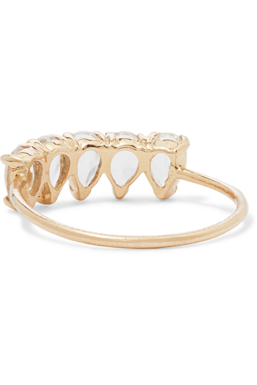 Loren Stewart 14-karat gold topaz ring