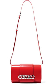 Givenchy Infinity chain-trimmed glossed-leather shoulder bag