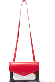 Givenchy Duetto color-block smooth and textured-leather shoulder bag