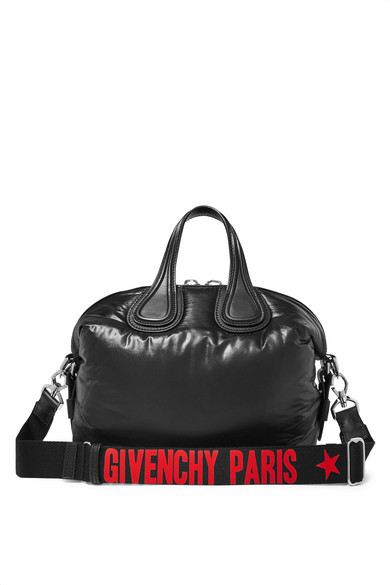 d239ace9e6 Givenchy Small Nightingale Leather-Trimmed Shell Tote In 001 Black ...
