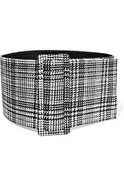 Prince of Wales checked woven waist belt