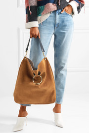 Pierce Hobo suede and leather shoulder bag