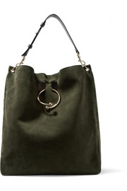JW Anderson Pierce Hobo suede and leather shoulder bag