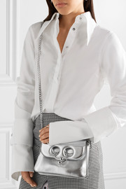 Pierce mini metallic leather shoulder bag